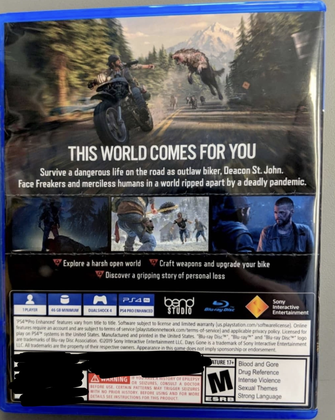 Days Gone Is Just 46 GB On Disc and Playable Without Updates