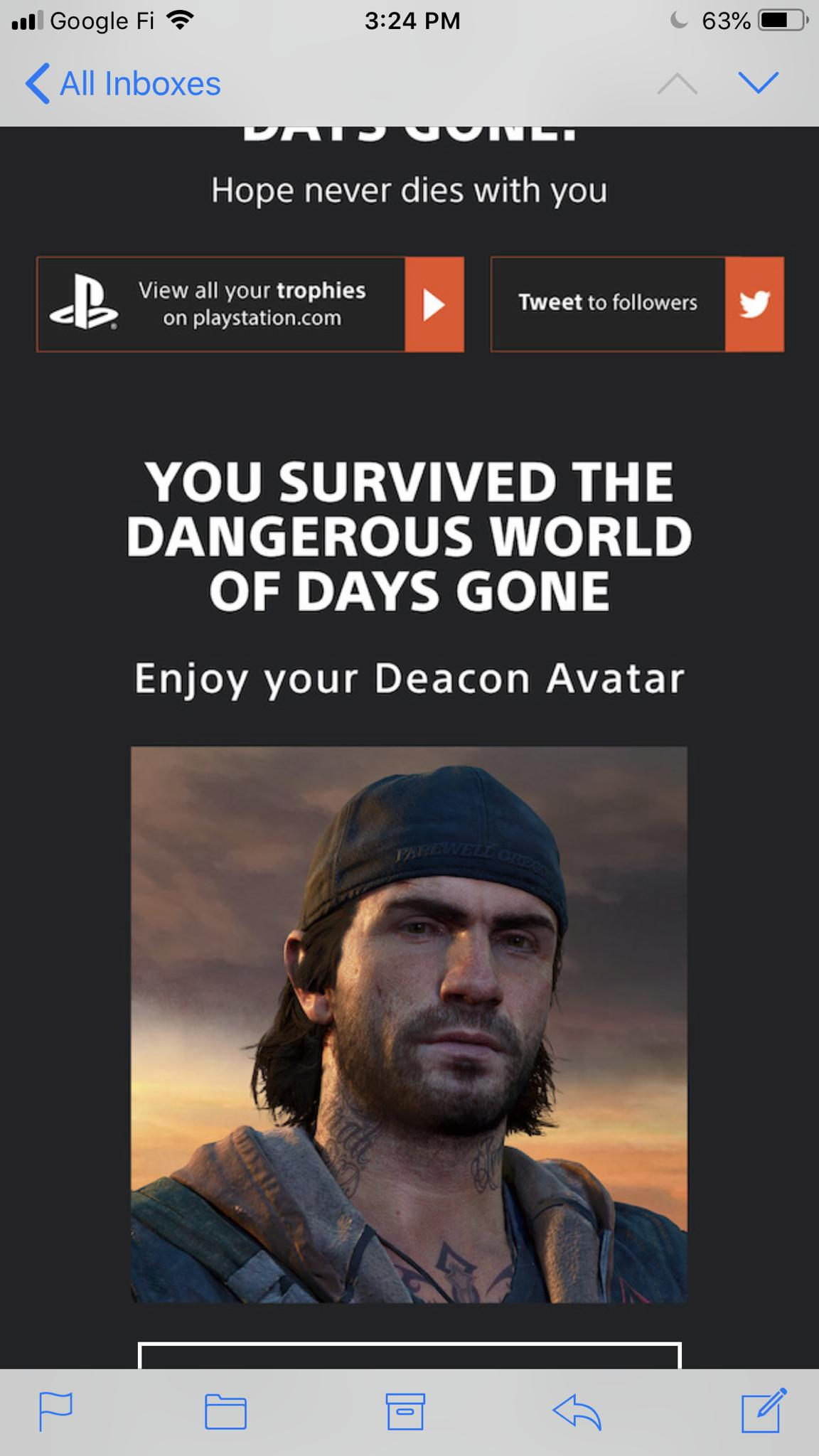 Days Gone Platinum Theme and Avatar Is Free For Everyone