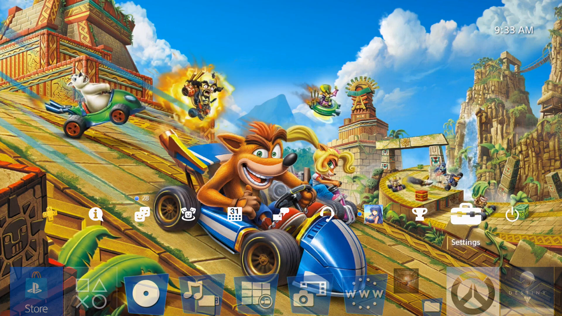 crash team racing nitro-fueled dynamic theme