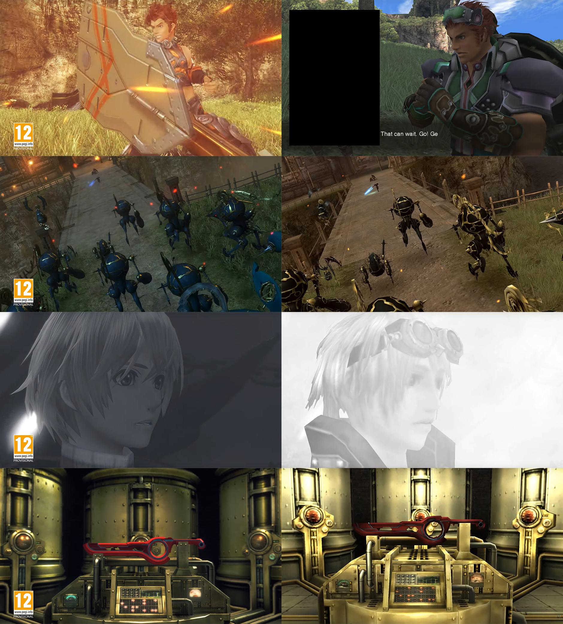 xenoblade chronicles comparison