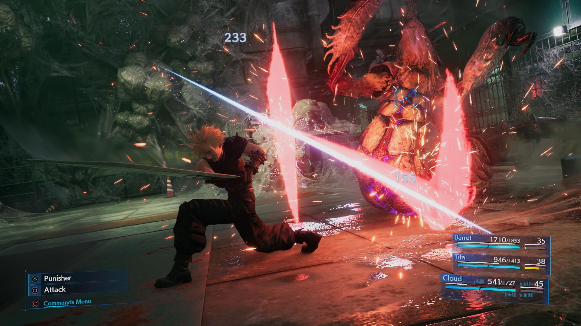 final fantasy 7 remake battle intel report