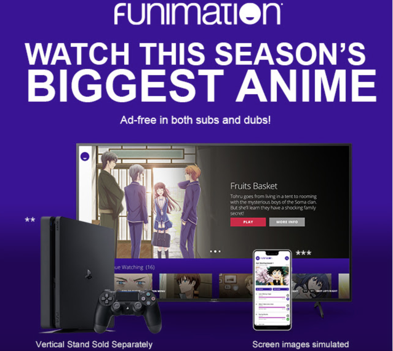 ps plus funimation