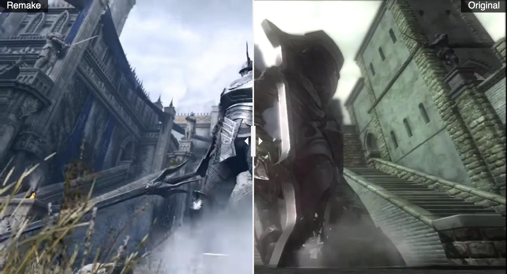 demon's souls remake comparison