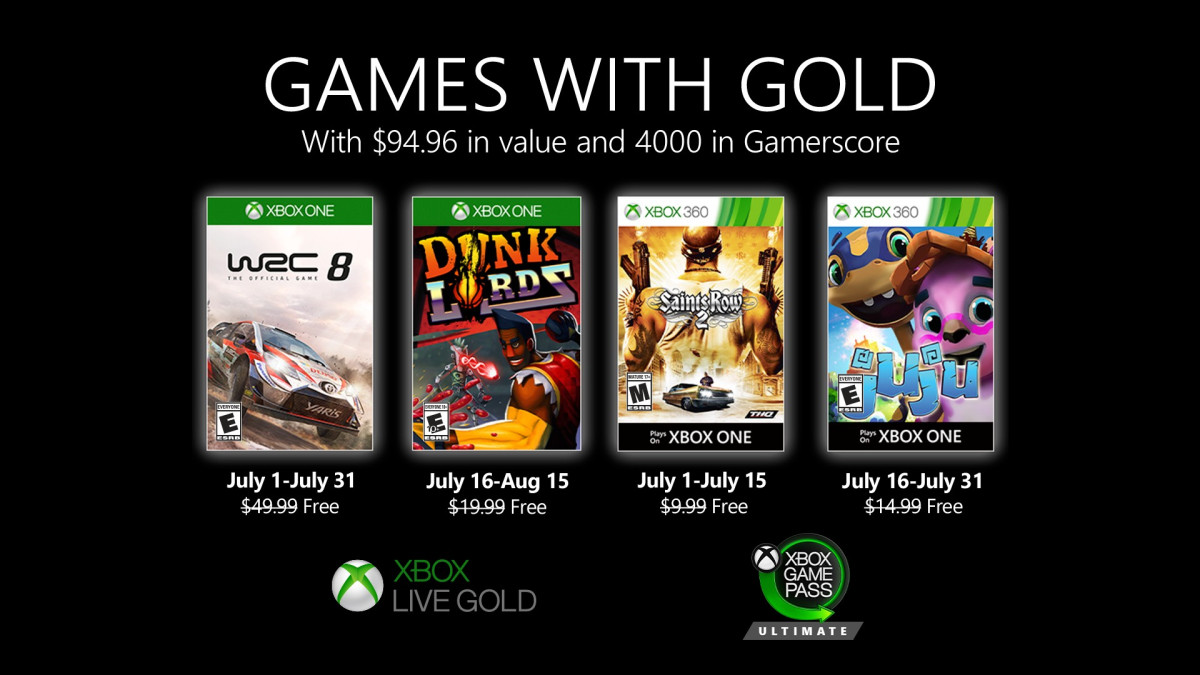 games with gold july 2020