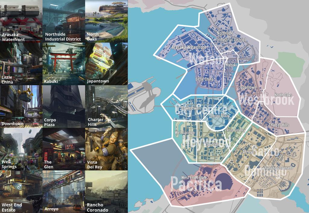cyberpunk 2077 world map