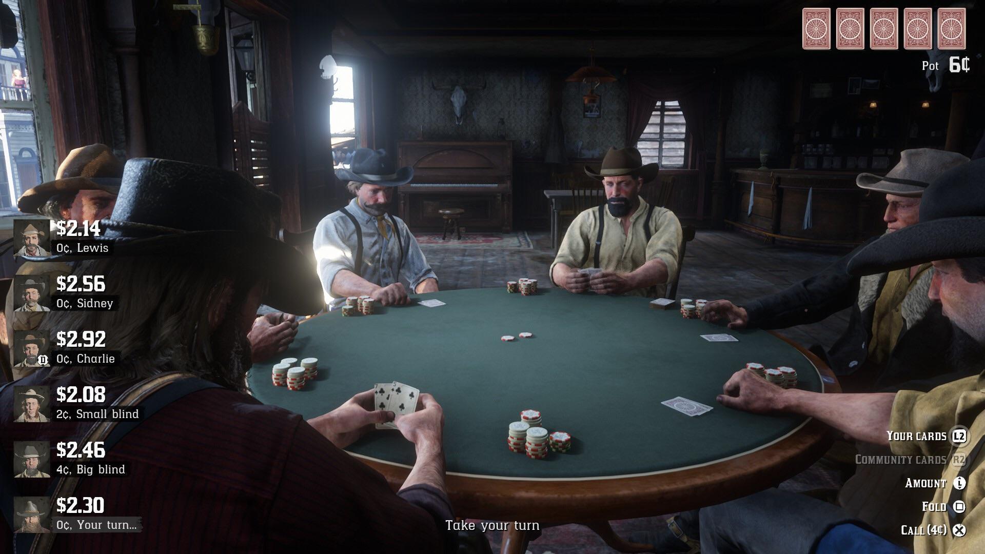 Red Dead Redemption 2 poker guide