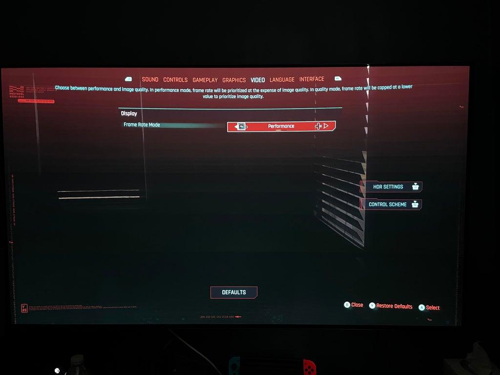 cyberpunk 2077 performance mode