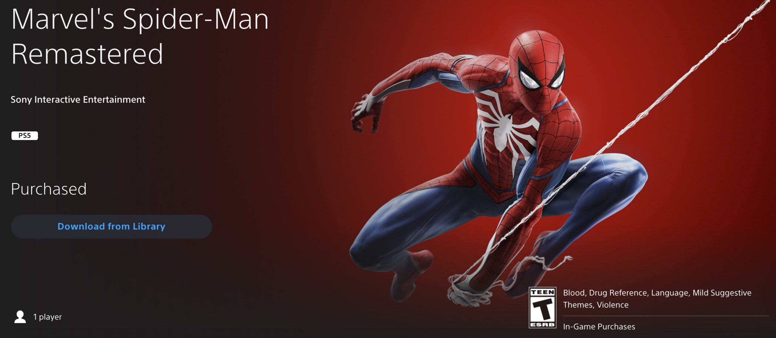 spider-man remastered standalone