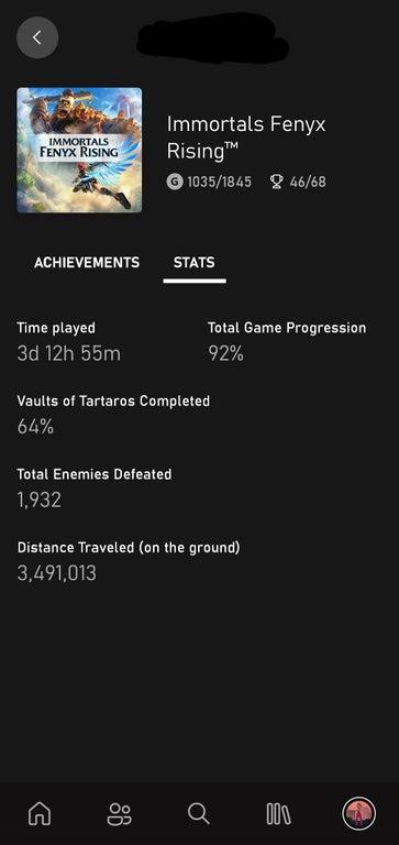 Aplicación Xbox muestra estadísticas completas de juego
